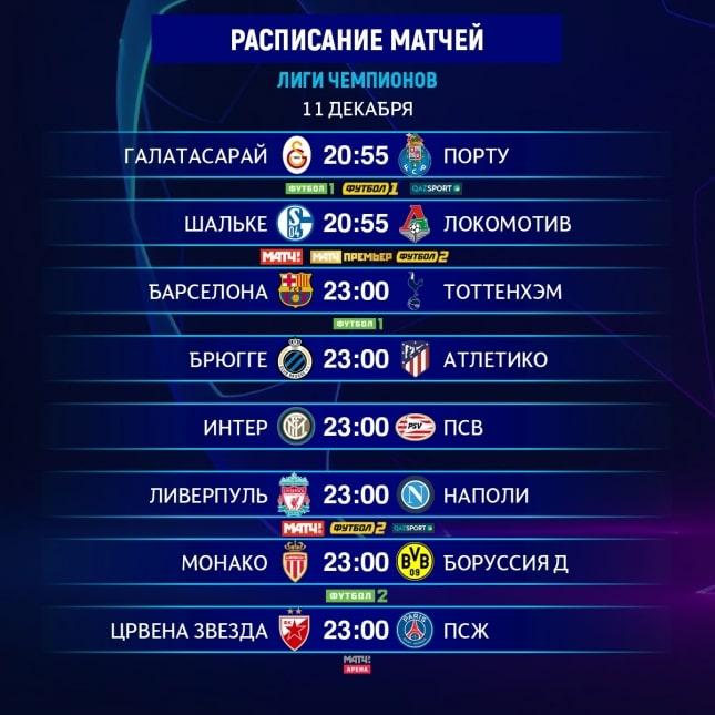 Расписание футбольных матчей локомотив- интер